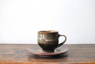 【森山窯】コーヒー碗皿 いっちん 並釉