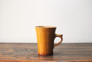 【湯町窯】マグカップ細 小 黄釉