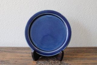 【出西窯】6寸縁付平皿 呉須釉