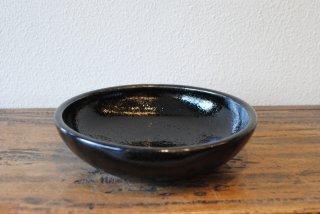 【出西窯】7寸深皿 黒釉