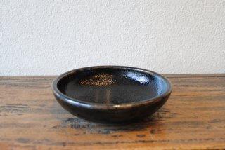 【出西窯】6寸深皿 黒釉