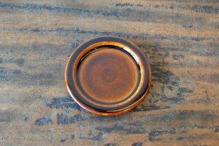 【出西窯】3.5寸縁付平皿 飴釉