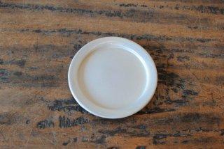 【出西窯】3.5寸縁付平皿 白釉