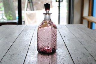 【星耕硝子】四角栓付瓶 紫