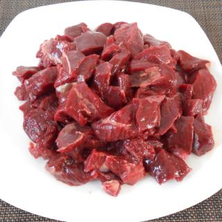 【国産】エゾ鹿 モデレートダイスカット1kg 【冷凍生肉 犬猫用】