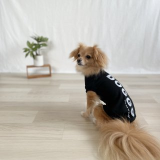 <img class='new_mark_img1' src='https://img.shop-pro.jp/img/new/icons25.gif' style='border:none;display:inline;margin:0px;padding:0px;width:auto;' />【大人気】DOGGO/犬用Tシャツ(ディープブラック)/ペアルック可