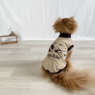 <img class='new_mark_img1' src='https://img.shop-pro.jp/img/new/icons55.gif' style='border:none;display:inline;margin:0px;padding:0px;width:auto;' />Dogs Rule!/犬用Tシャツ(サンドベージュ)/ペアルック可
