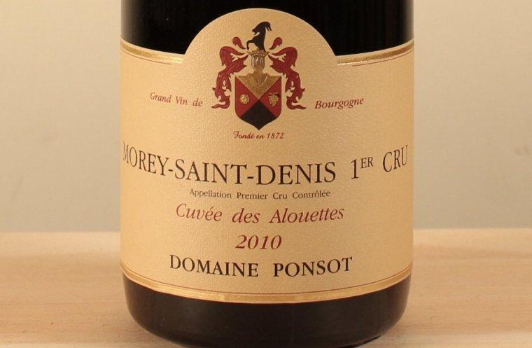 モレ サン ドニ プルミエ クリュ キュヴェ デ ザルエット Morey-Saint-Denis 1er Cru Cuvee des Alouettes2010