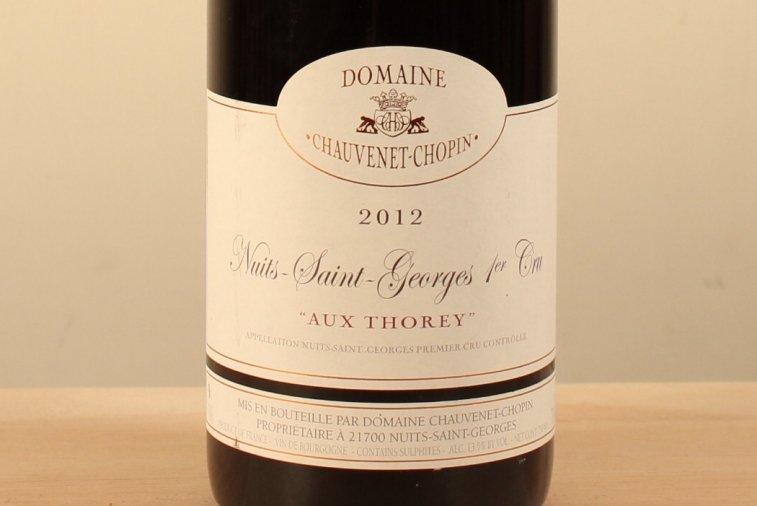 ニュイ サン ジョルジュ プルミエ クリュ オー トレイ Nuits-Saint-Georges 1er Cru Aux Thorey2012