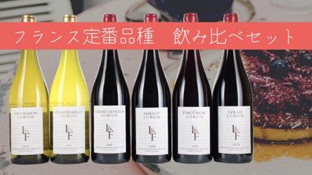【送料無料】フランス定番品種 飲み比べ6本セット クール便にて (赤4本白2本) 通常9500円 8/31まで