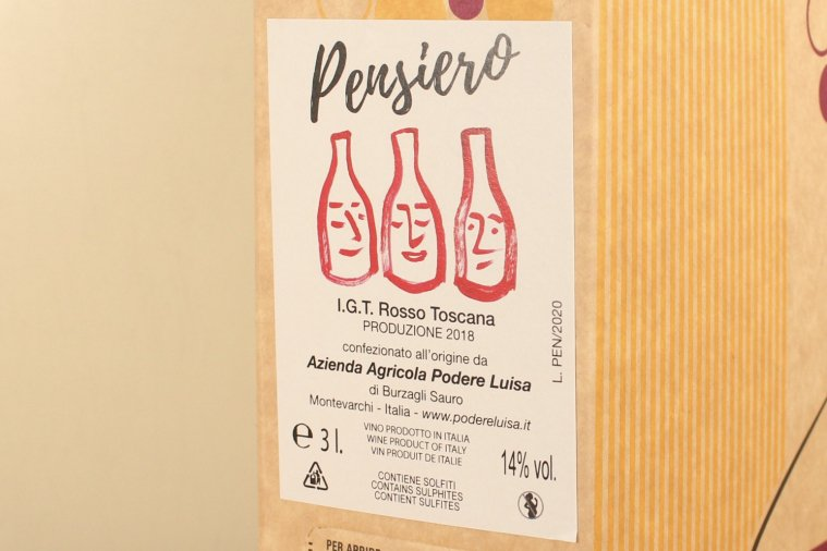 """Pensiero"" 2017 Toscana Rosso IGT ペンスィエロ トスカーナ ロッソ 3000ml(BIB)"