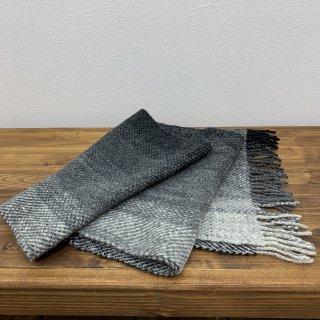 【HOMSPUN/ホームスパン】ウール100% グラデーションマフラー 岩手郷土工芸品 手織り 手縫い 手紡ぎ ハンドメイド