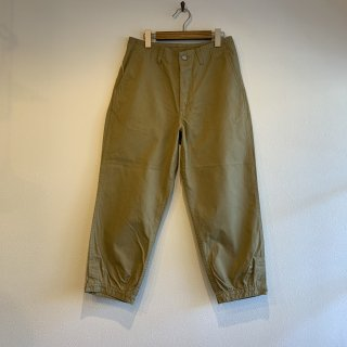 【SASSAFRAS】ササフラス Sprayer Stream Pants 4/5 Beige SF-201636