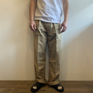 <img class='new_mark_img1' src='https://img.shop-pro.jp/img/new/icons47.gif' style='border:none;display:inline;margin:0px;padding:0px;width:auto;' />【MILITARY DEADSTOCK】FRENCH ARMY M52 CHINO TROUSERS 50's-60's