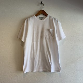 【SASSAFRAS】Chop Corner Pocket T 1/2 Singe Yan Cotton 無地Tシャツ