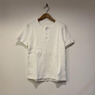 【着もちいい服】 F/W FACE THERMAL T-SHIRT ダブルフェイス サーマル ヘンリーネック Tシャツ