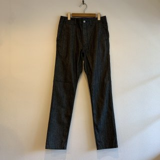 【SASSAFRAS】Sprayer Pants Broken Denim Black
