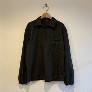 【MILITARY DEADSTOCK】  実物 チェコ軍 プルオーバー ワークシャツ BLACK染め