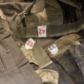 <img class='new_mark_img1' src='https://img.shop-pro.jp/img/new/icons5.gif' style='border:none;display:inline;margin:0px;padding:0px;width:auto;' />【MILITARY DEADSTOCK】  50s FRENCH ARMY WOOL TROUSERS M-52 デッドストック