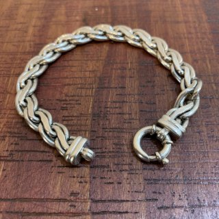 <img class='new_mark_img1' src='https://img.shop-pro.jp/img/new/icons5.gif' style='border:none;display:inline;margin:0px;padding:0px;width:auto;' />【VINTAGE SILVER】 BRITISH VINTAGE SILVER BRACELET SILVER925