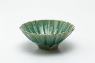 輪花豆鉢(トルコブルー)菅野一美