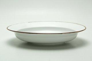 リム楕円皿(淵サビ白マット)皓洋窯