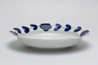 リム楕円皿(染付花つなぎ)皓洋窯