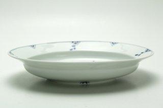 リム楕円皿(染付剣先紋)皓洋窯