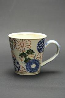 色絵マグカップ(丸紋)濱田高滋