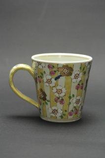 色絵マグカップ(桜すだれ紋)濱田高滋