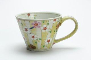 色絵桜すだれ紋マグカップ・濱田高滋