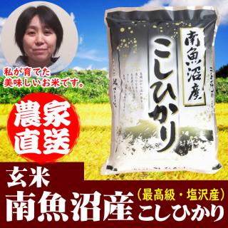 【玄米】南魚沼産コシヒカリ 令和元年 新米(塩沢産)