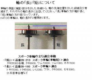 28-193 スポーク車輪 車軸長 (1個)