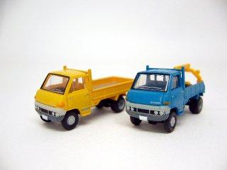 カーコレ13 トヨタ ダイナ(平荷台/黄+レッカー車/青)