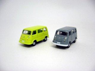 カーコレ09 スバルサンバーライトバン (グレー+グリーン)