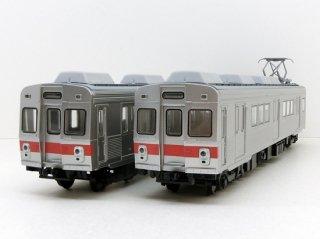 [2020年末予定] 65011 東急7200系 冷房車 2両セット 赤帯・前面ステップ付 (予価)