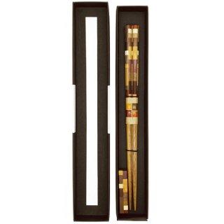 箱根 寄木細工箸(外国産の木)