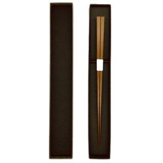 京都 極細箸 燻し煤竹摺り漆
