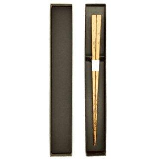 京都 四角摺り漆箸 紋竹
