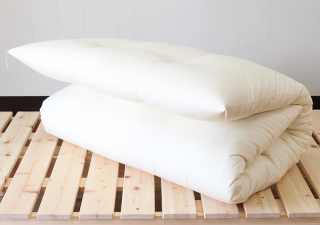 ナチュラルコットン100%/シングル敷き布団 中綿6.3kg 標準タイプ