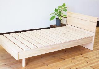 鳥取県産ヒノキ 無垢すのこベッド/シングルすのこベッド