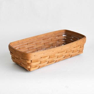 [1991's Vintage] Handwoven Maple Bread Basket - Longaberger, USA