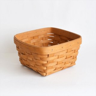 [1995's Vintage] Handwoven Maple Berry Basket - Longaberger, USA