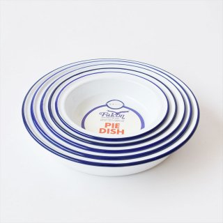 [Deadstock] Enamel Pie Dish (set of 5) - Falcon, UK(琺瑯パイ皿)