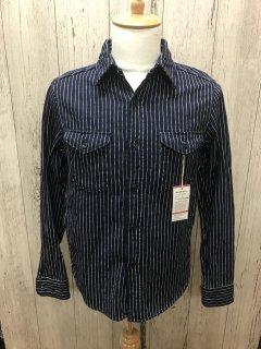 ウエス/UES 501656 インディゴストライプネルシャツ ワークシャツ