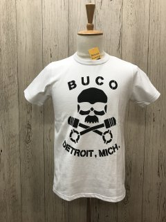 リアルマッコイズ/BUCO WHT  BUCO DETROIT, MICH. スカルピストン ブコTee  BC18005