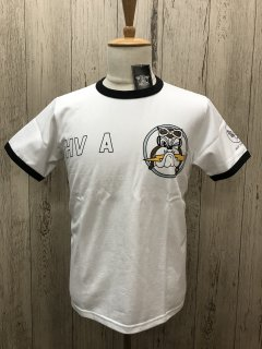 リアルマッコイズ  WHT ミリタリーTee  ZEMKES WOLFPACK  MC20019 THE REAL McCOY'S
