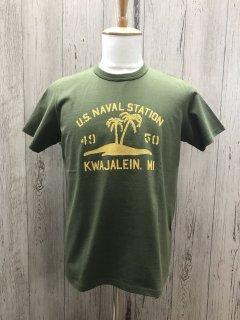 リアルマッコイズ MC18007 US NAVAL STATION  ミリタリーT  REAL McCOYS
