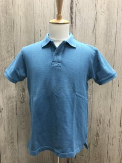 UES/ウエス 67LW 吊り鹿の子ポロシャツ ブルー 半袖ポロ