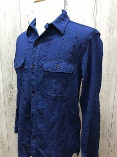 ウエス/UES 502001 インディゴ 追撚シャツ  長袖シャツ